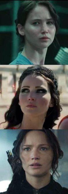 Katniss Everdeen:  los juegos del hambre,en llamas y sinsajo parte 1