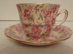 Royal Winton Chintz English Rose Cup Saucer