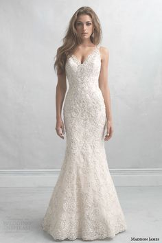 Madison James fall 2014 #bridal collection: sleeveless #wedding dress style MJ15