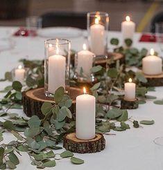 Tablescape Multi-Size Bundles of 5 Pieces We Can Custom Cut | Etsy Fall Wedding, Wedding Ceremony, Our Wedding, Dream Wedding, Wedding Tables, Wedding Table Garland, Perfect Wedding, Wedding Order, Wedding Night