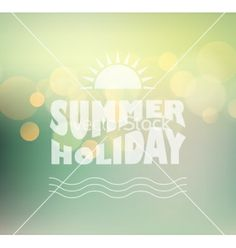Sunny shine background with summer text vector  by marigold_88 on VectorStock®