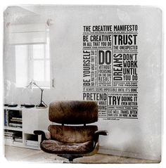 Wall stickers : The creative manifesto | Designer: © All rights reserved by fabienbarral | www.MR-CUP.com