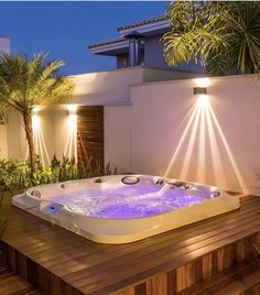 25 Awesome Inground Hot Tub Ideas That Will Drop Your Jaw - josh-hutcherson Inground Hot Tub, Spa Jacuzzi, Jacuzzi Outdoor, Hot Tub Backyard, Hot Tub Garden, Backyard Patio, Kleiner Pool Design, Small Pool Design, Cheap Apartment