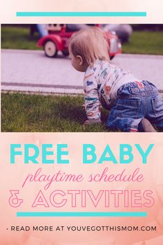 Free Printable Developmental Baby Playtime Schedule and Activities... created during the Corona Virus, but can be used for stay-at-home-moms and work-at-home moms anytime!