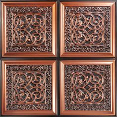"Lover's Knot - Faux Tin Ceiling Tile - Glue up - 24""x24"" - #231"