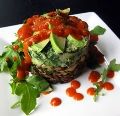 Foodie Friday - Compressed Wild Mushrooms & Avocado with Red Pepper Coulis – Real Food Rehab