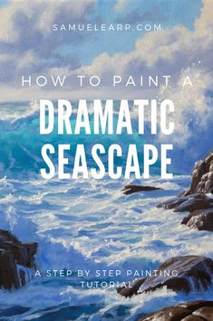 In this painting tutorial I show you step by step how you can paint a seascape full of drama, beauty