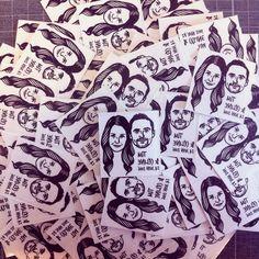 Custom Portrait Tattoo @lilimandrill www.lilimandrill.fr #etsy #EtsyGifts #EtsySuccess #etsywedding #wedding #mariage #bride #diy #couple #giftforcouple #handmade #gift #tattoo #temporarytattoo #favor #weddingfavor #etsymatch #etsylove