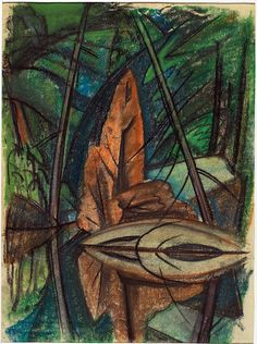 Emily Carr (Canada Landscape with Forest and Lake (c. pastel on wove paper 54 x 40 cm Canadian Painters, Canadian Artists, Group Of Seven Paintings, Small Paintings, Tom Thomson, Emily Carr, Post Impressionism, French Art, Simple Art