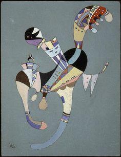 kandinskij figura fluttuante 1942 vezelay -