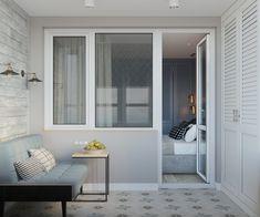 Birou pe balcon și accente geometrice într-un proiect de amenajare pentru un apartament din Moscova Jurnal de design interior