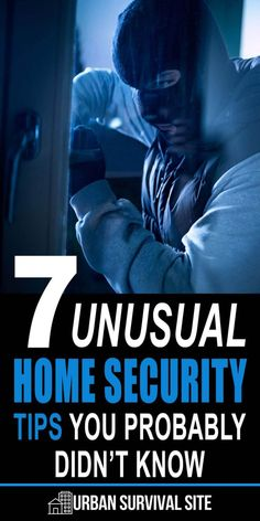 7 Unusual Home Security Tips You Probably Didn't Know - A burglar who tries hard enough may find a way around the standard home security measures. In case that happens, here are some unusual home security tips. Home Security Tips, Safety And Security, Security Cameras For Home, Home Security Systems, Personal Security, Wall E, Best Hacks, Home Safety Tips, Home Improvement Loans