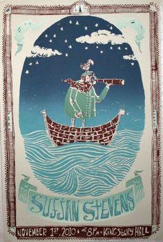 Sufjan Stevens Poster by potterpress on Etsy, $18.00