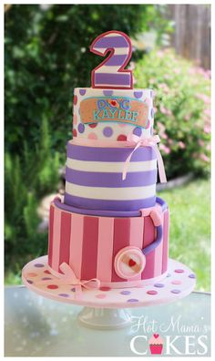 Birthday Cake Fondant Girl Doc Mcstuffins Ideas For 2019 Doc Mcstuffins Cake, Doc Mcstuffins Birthday Party, Fondant Girl, Fondant Cakes, 3d Cakes, Beautiful Cakes, Amazing Cakes, Different Cakes, Disney Cakes