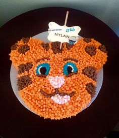 Daniel the Tiger themed Happy Birthday Cake