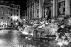 Poster 30 x 20 cm: Fontana di Trevi in Rom von Filtergrafia - hochwertiger Kunstdruck, neues Kunstposter