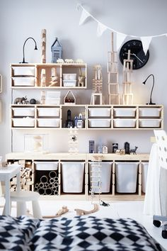 TROFAST Storage combination with boxes – white, white – IKEA - Kids playroom ideas