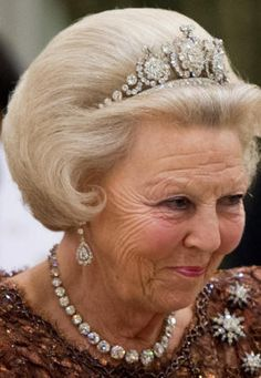 Queen Beatrix of the Netherlands, now Princess Beatrix, following her abdication in 2013.