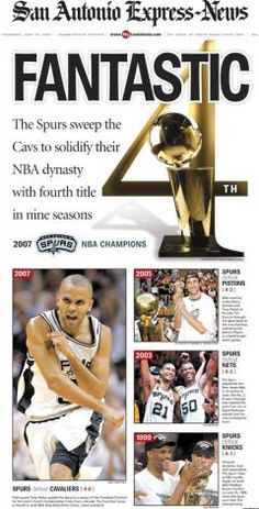 Link to Article on Championship flashback: 2007 NBA Champs San Antonio Spurs