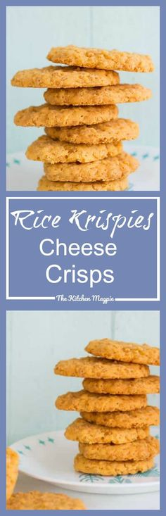 Rice Krispies Cheese Crisps - The Kitchen Magpie