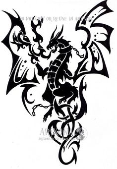 dragon tribal commission by *Arixona