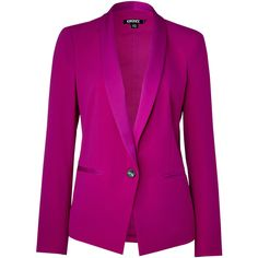DKNY Jazzberry-Magenta Tuxedo Blazer found on Polyvore