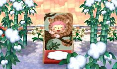 Kitty in a Tree Face Board - Animal Crossing New Leaf QR