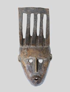 Mask of hair style nice Bamana tribe