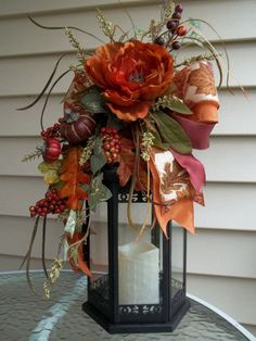 46 Gorgeous Diy Fall Lantern Swag Decor To Interior Design is part of Fall decor 2018 - Are you looking for something stylish that will illuminate your place Then what you probably need are candle lanterns to […] Thanksgiving Decorations, Seasonal Decor, Christmas Decorations, Holiday Decor, Thanksgiving Tree, Fall Lanterns, Lanterns Decor, Fall Lantern Centerpieces, Candle Lanterns