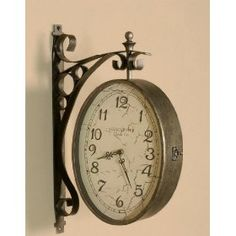 Visited friends' apartment and they had the coolest vintage, train station-style wall clock. Looked something like this :)
