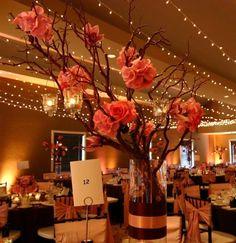 Fall Themed Wedding Centerpieces