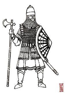 Georgian Guardsman of the centuries by MegruliGuy Military Costumes, Medieval Armor, Historical Art, Ex Libris, Central Asia, Byzantine, Military History, Thing 1 Thing 2, Georgian