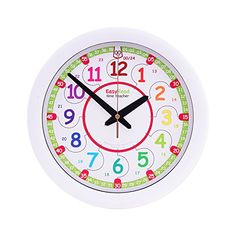 EasyRead Time Teacher Kinder-Wanduhr, die das 12 Stunden Zeitformat und das (digitale) 24 Stunden Zeitformat anzeigt. Es erm�glicht, das Ablesen der digitalen Uhrzeit mit einer analogen Uhr zu erlernen. Einfaches Lehrsystem in zwei Schritten. Durchmesser 29 cm, f�r Kinder im Alter von f�nf bis zw�lf