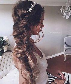 Soft and Messy Fishtail Bridal Braid