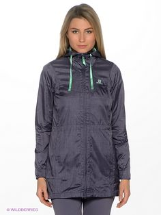 Ветровка GUALEA WIND JACKET W SALOMON. Цвет фиолетовый. Эта легкая ветрозащитная куртка имеет элегантный, стильный внешний вид и при необходимости компактно складывается - интернет-магазин Wildberries.ru