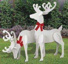 All-Weather Large Reindeer Yard Display