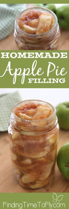 Homemade Apple Pie Filling I never thought of making Homemade Apple Pie filling ahead of time before. What…<br> Make this Homemade Apple Pie Filling ahead of time and whip up a delicious dessert in no time. Apple Desserts, Apple Recipes, Holiday Recipes, Delicious Desserts, Yummy Food, Diet Recipes, Pie Dessert, Dessert Recipes, Dessert Tables