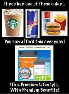 Seriously, have you investigated the ingredients in mcd's french fries. ... well I have! There are 17 ingredients in them. ... 17!!! Shouldn't it just be potatoes, salt & oil? Js.....  Thrive is super premium nutrition! Go sign up for your FREE account & look for yourself! Www.thiscowgirl.Le-Vel.com