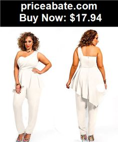 3848d94b3c Jumpsuits-And-Rompers  Plus Size 2XL Sexy Women Clubwear Party Bodycon  Chiffon Jumpsuit