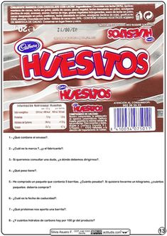 Lecturas funcionales (comprension lectora-cálculo) - envoltura de Huesitos