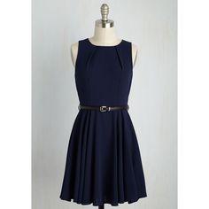 Nautical Short Length Sleeveless A-line Transformative Tendency Dress ($60) via Polyvore featuring dresses, modcloth, apparel, blue, fashion dress, blue sleeveless dress, blue a line dress, pleated dress, blue pleated dress and short dresses
