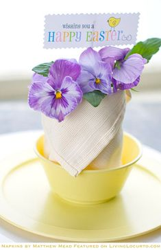 DIY:: 7 Different Napkin Fold Tutorials With Free Printables For Spring & Easter Tablescapes