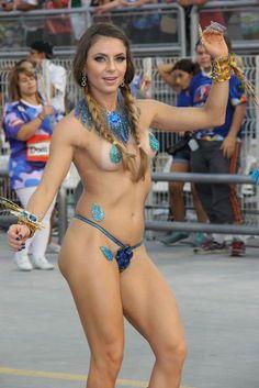 Marianne Raineri #MusasDoCarnaval no ensaio da Academicos do Tatuapé #aRT  carnaval 2015