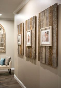 Rustic Home Decor Modern Farmhouse Reclaimed Wood Backdrop for Picture Frames.Rustic Home Decor Modern Farmhouse Reclaimed Wood Backdrop for Picture Frames Decoration Bedroom, Decor Room, Living Room Decor, Frame Decoration, Room Decorations, Country Christmas Decorations, Decoration Crafts, Farmhouse Christmas Decor, Easy Christmas Crafts