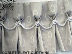 Knot pleated curtains