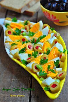 kahvaltılık yumurtalı salata