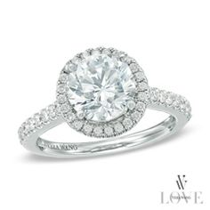 Vera Wang LOVE Collection 2-1/3 CT. T.W. Diamond Frame Engagement Ring in 18K White Gold...yeah its only $32,000!