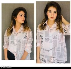 Shirts Stylis Writing Print Note Shirt For Women Fabric: Poly Georgette Sleeve Length: Long Sleeves Pattern: Printed Multipack: 1 Sizes: S (Bust Size: 32 in Length Size: 25 in Shoulder Size: 16 in)  L (Bust Size: 34 in Length Size: 25 in Shoulder Size: 16 in)  M (Bust Size: 33 in Length Size: 25 in Shoulder Size: 16 in)  Country of Origin: India Sizes Available: S, M, L *Proof of Safe Delivery! Click to know on Safety Standards of Delivery Partners- https://ltl.sh/y_nZrAV3  Catalog Rating: ★4.2 (4591)  Catalog Name: Fancy Sensational Women Paper Print Shirts CatalogID_1529183 C79-SC1022 Code: 304-8902378-996
