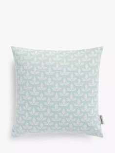 Sanderson National Trust Felix Cushion at John Lewis & Partners Sanderson Fabric, Shell Station, Bed Pillows, Cushions, John Lewis Shops, Collection Services, Robins Egg, Cushion Filling, National Trust