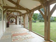 Buckinghamshire Barn - Border Oak - oak framed houses, oak framed garages and structures. Oak Framed Extensions, House Extensions, Kitchen Extensions, Timber Frame Homes, Timber House, Barn Conversion Interiors, Border Oak, Cottage Extension, Oak Frame House